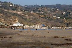 Strand på Santa Monica California Arkivfoton