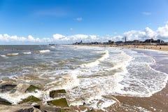 Strand på Scheveningen, Nederländerna Royaltyfri Foto