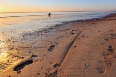 Strand på solnedgång Royaltyfri Fotografi