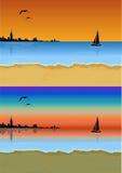 Strand på solnedgången Royaltyfria Foton