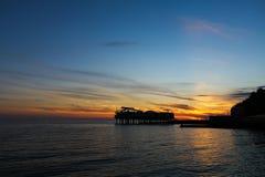 Strand på solnedgången Arkivfoton