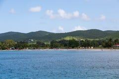 Strand på St Croix Arkivfoto