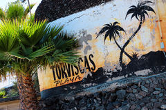 Strand på Tenerife, kanariefågel, Spanien, Europa Royaltyfria Bilder