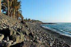 Strand på Tenerife, kanariefågel, Spanien, Europa Royaltyfria Foton