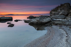 Strand på den Black Sea kusten Royaltyfria Foton