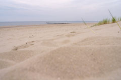 Strand-Panorama Stockbild