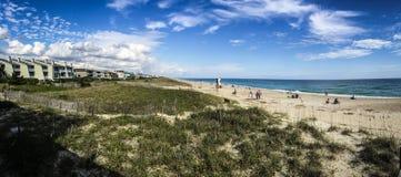 Strand-Panorama Stockbild