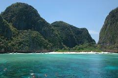 Strand in paradijs Stock Afbeeldingen