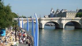 Strand in Paris Stockfotos