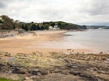 Strand Pembrokeshire västra Wales för bro för Wiseman ` s Arkivfoton