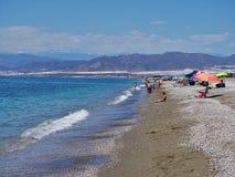 Strand Pena Del Moro von EL Ejido Almeria Andalusia Spain stockbilder