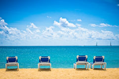 Strand in Philipsburg, Heiliges Maarten, Karibikinseln Stockfotografie