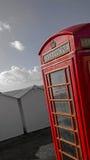 Strand phonebox Stock Afbeeldingen