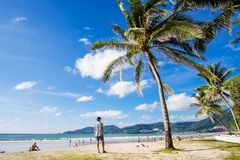 Strand phuket-Patong stock foto's