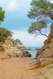 Strand in Playa DE Aro, Costa Brava, Spanje royalty-vrije stock afbeelding