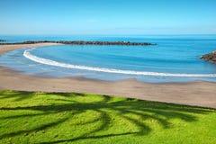 Strand in Playa DE las Amerika, Tenerife Stock Afbeelding