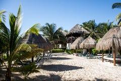 Strand an Playe-del Carmen Mexiko Yucatan lizenzfreie stockfotografie