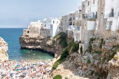 Strand in Polignano een merrie royalty-vrije stock fotografie