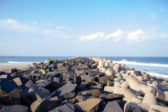 Strand in Pondicherry Stockfotos