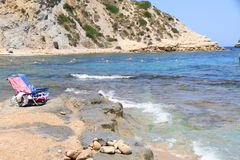 strand Portixol Javea Spanje Stock Foto