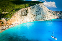Strand Porto Katsiki in Lefkas-Insel, Griechenland Lizenzfreies Stockbild