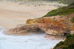 Strand in Portugal Royalty-vrije Stock Afbeelding