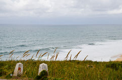 Strand in Portugal Royalty-vrije Stock Afbeeldingen