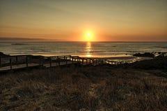 Strand Praia tun Amado an der Costa Vicentina auf Sonnenuntergang, Portugal Stockfotografie