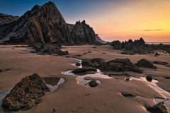 Strand Praia tun Amado an der Costa Vicentina, Portugal Stockfoto