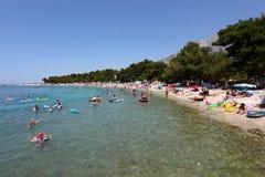 Strand in Promajna, Kroatien Lizenzfreie Stockfotografie