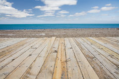 Strand-Promenade stockfotos