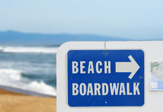 Strand-Promenade lizenzfreies stockbild