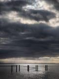 Strand-Promenade nahe Esbjerg, Dänemark Stockfotos