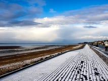 Strand-Promenade nahe Esbjerg, Dänemark Lizenzfreie Stockbilder
