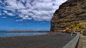 Strand in Puerto DE Tazacorte, La Palma, Spanje Royalty-vrije Stock Foto's