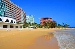 Strand Puerto Rico - Condado Royalty-vrije Stock Afbeeldingen