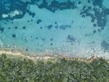 Strand in Punta-Ala Italien-Antennenlandschaft stockfoto