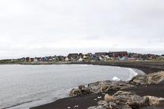 Strand Qeqertarsuaq, Groenland royalty-vrije stock foto