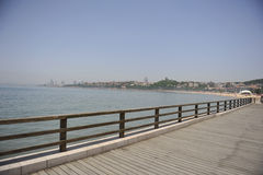 strand qingdao arkivbilder