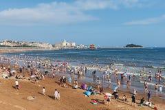 Strand in QingDao royalty-vrije stock foto