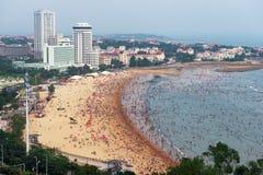 Strand in QingDao royalty-vrije stock afbeelding