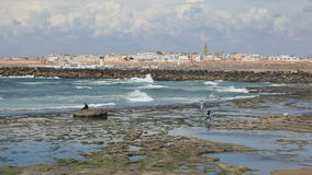 Strand in Rabat, Marokko stock video