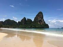 strand railay thailand Royaltyfri Bild