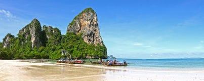 strand railay thailand Arkivbilder