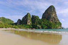 strand railay thailand Royaltyfri Foto
