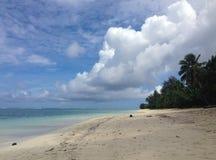 Strand Rarotonga, kock Islands Arkivbild