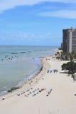 Strand in Recife, Brazilië Royalty-vrije Stock Afbeeldingen