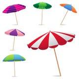 Strand-Regenschirm Stockfotos