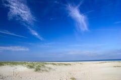 Strand in Renesse, die Niederlande lizenzfreies stockbild