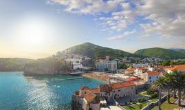 Strand Ricardova-glava Budva montenegro lizenzfreies stockfoto